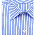Stylish half Shirt In Blue  White stripes from Arrow