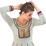 Rivaa White Georgette Designer Top Salwar