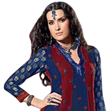 Alluring Creative Designer Blue Viscose Salwar from Praful