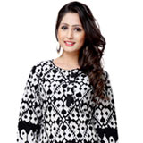 Fabulous Black Coloured Cotton Printed Kurti