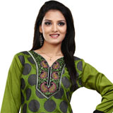 Graceful Green Coloured Crepe Silk Printed Kurti
