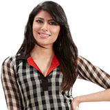 Cultivated Choice Linen Checks Kurti