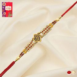 Remarkable Stone Studded Om Rakhi