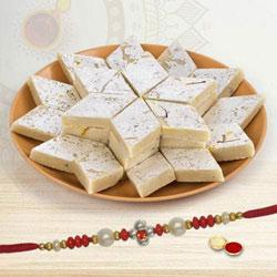 Exclusive Combo of Single Rakhi along with Kaju Katli