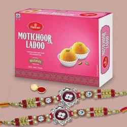 Exclusive Rakhi Set With Chota Bheem Kid Rakhi And Motichoor Laddoo