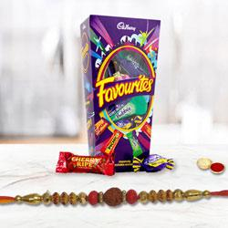 Precious set of One Rakhi with Mix Cadbury Chocolates