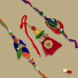 Beauteous Bhaiya Bhabhi Rakhi Combo