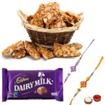 Attractive Rakhi Wishes Gift Set