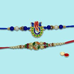 Fascinating Duel Rakhi Set