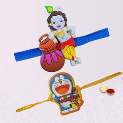 Stylish Kids Design Duel Rakhi Set