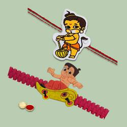 Classy Kids Rakhi Duel Combo Set