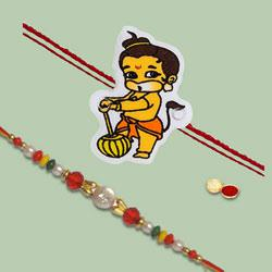 Charismatic Gift of 2 Rakhi Combo Set