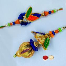 Auspicious Bhaiya Bhabhi Rakhi Set