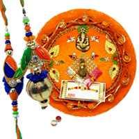 Graceful Rakhi Thali N Charming Bhaiya Bhabhi Rakhi
