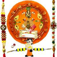 Modish Rakhi Thali With Bhaiya N Kid Rakhi