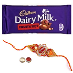 Marvellous Rakhi N Tasty Cadbury Chocolate
