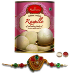 Alluring Rakhi With Haldiram Platable Rasgulla