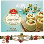 Alluring Rakhi And Haldiram Delicious Soan Cake