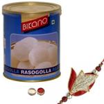 Winsome Rakhi With Bikano Rasgulla
