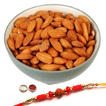 Pretty Rakhi With Almonds