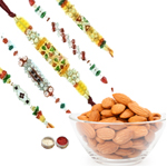Stylish 5 Rakhi With Almonds