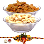 Ambrosial Dry Fruit and Kid Rakhi Array