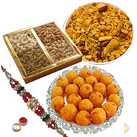 Charming Rakhi Hamper of Traditional Treats