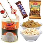 Sizzling Woven in Love Rakhi Delight Gift Hamper