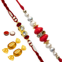 2 Designer Thread Rakhi