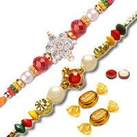 2 Attractive Designer Thread Rakhi