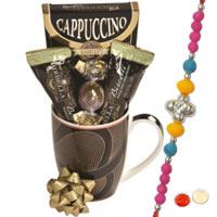 Coffee Mug with Chocolates and Rakhi
