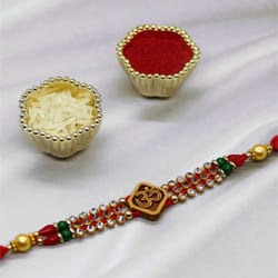 Beads Om Rakhi