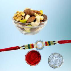 Fancy Rakhi with Assorted Dry Fruits