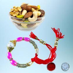 Exclusive Bracelet Rakhi with Crispy Dry Fruits