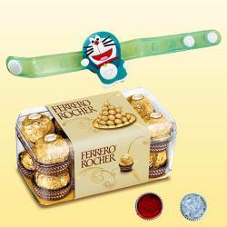 Fancy Kids Rakhi with Delicious 15pc Ferrero Rocher