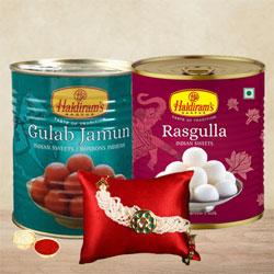 Trendy Rakhi with Sweets Assortments