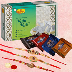 Soothing Selection of Rakhis with Sweets N Chocolates