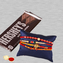 Splendid Bhai Special Rakhi Set with Hersheys Chocolate