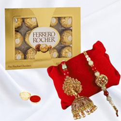 Lovely Bhaiya Bhabhi Rakhi with Ferrero Rocher Chocolates