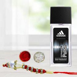Gorgeous Lumaba Rakhi Set with Men Perfume