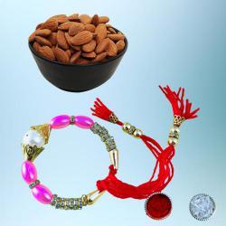 Graceful Bracelet Rakhi with Healthy Dry Fruits Pack