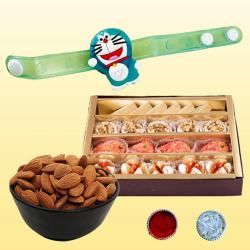 Smarty Kids Rakhi with Delicious Dry Fruits N Mithai