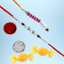 Gorgeous Lumba Rakhi Set with Free Chocolates