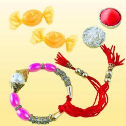 Trendsetting Bracelet Rakhi with Free Chocolates