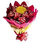 Excellent Bouquet of 12 Heart Shaped Chocolates