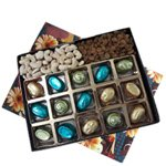 Classic Box of Treats Full of Assorted Homemade Chocolates and Assorted Dry Fruits