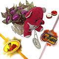 Amazing Teddy on Tricycle with Chocolates and Rakhi