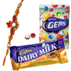 Smashing Combo Offer of Cadbury Chocolates with Rakhi, Roli Tilak and Chawal for your Caring Brother