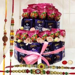 Mouth-Watering Chocolate Bonanza with Free 4 Rakhis and Roli Tilak Chawal