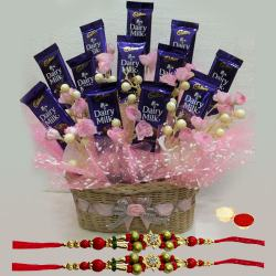Luxurious Chocolate Treats with Free 2 Rakhis and Roli Tilak Chawal